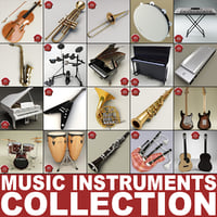 Music Instruments Collection V8