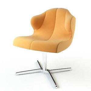 3d model armchair ligne roset