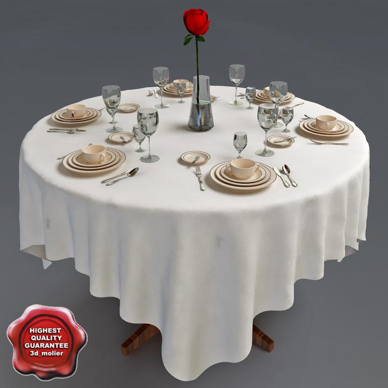c4d restaurant table v2