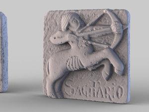 scan data stone plaque 3d model