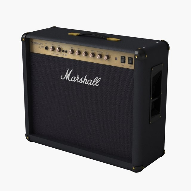 marshall guitar amplifier 2266c 3d model