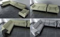 3d modular l sofa model
