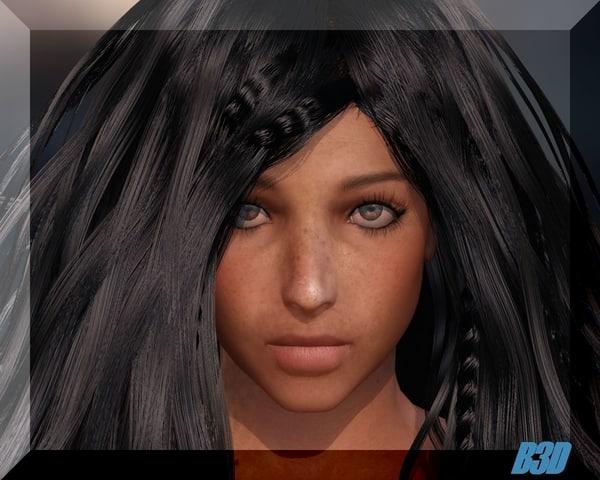 sofia woman dress 3d model