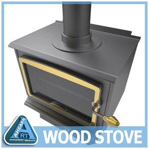 3d model wood stove grate