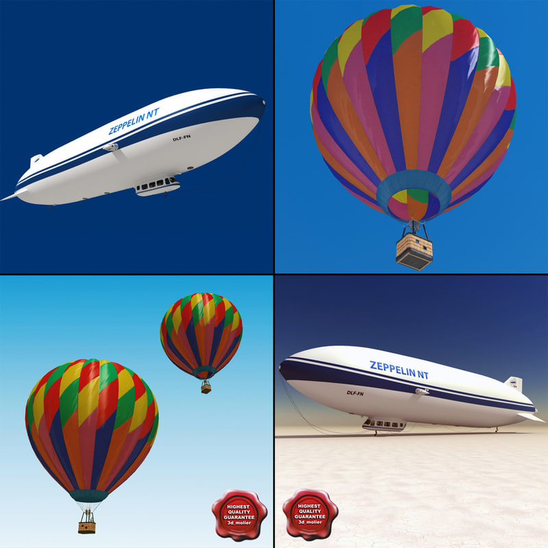 3d model zeppelin air balloon