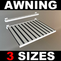 3d model awning hires