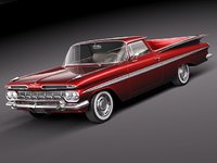 chevrolet impala 1959 el camino 3d max