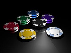 poker chips 3ds