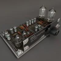 3d sci-fi electronics