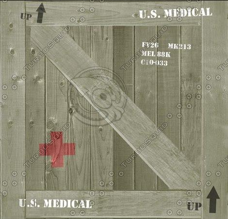 3d medical crate