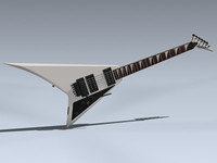 3d model electric guitar rhoads