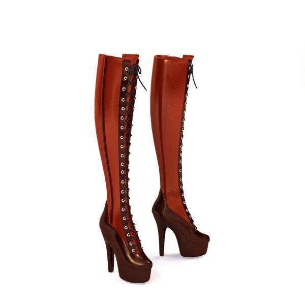 3ds max shoes lady la