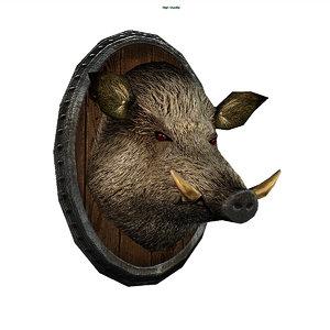 3d model boar s head