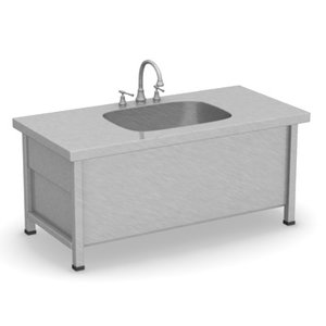 3d model wash sink kitchen