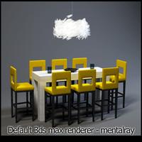 3ds bar scene