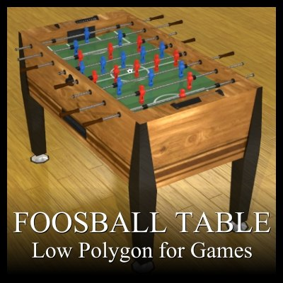 3ds max foosball table ball