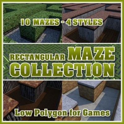 rectangular maze 3d model