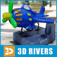 amusement ride kiddie plane 3d model