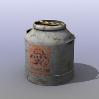 old oil barrels 3d model