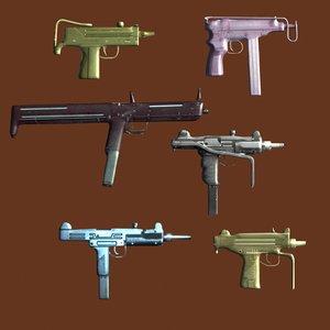 pack light automatic machine guns max