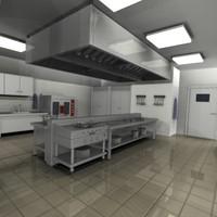3dsmax kitchen restaurant