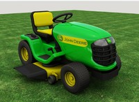 john riding lawn mower 3d max