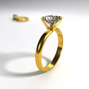 engagement ring 3d model