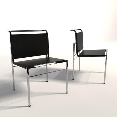 eileen gray roquebrune chair 3d model