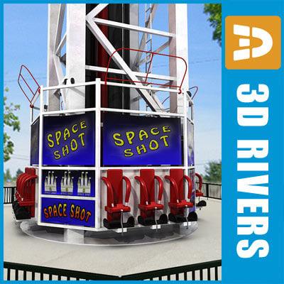 space shot ride 3d model