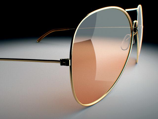 sunglasses aviator glass 3d obj