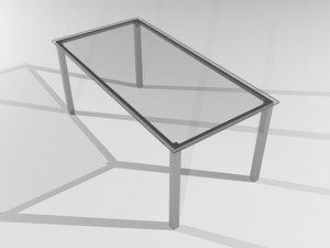 glass metal 3d model