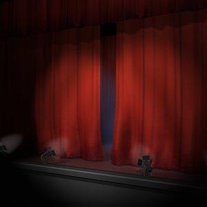 theatre stage 3d model