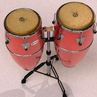 conga tumba percussion 3d model