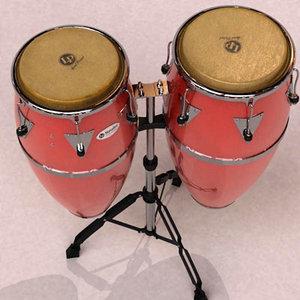 conga tumba percussion 3d model