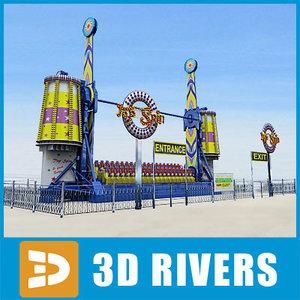 spin ride 3d model