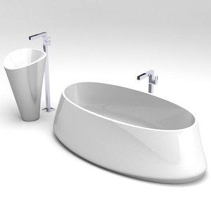 3d toscoquattro freestanding bathtub sink model