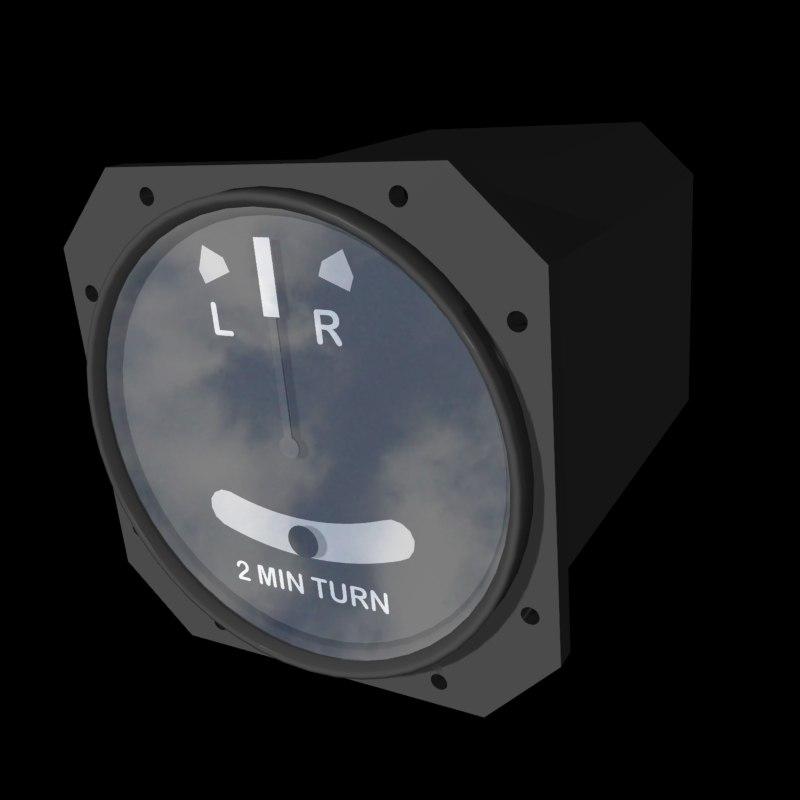 turn indicator 3d model