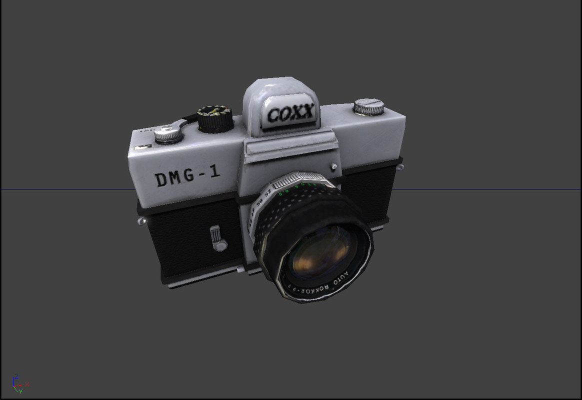 3d model old style camera