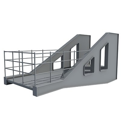 3d model of industrial element