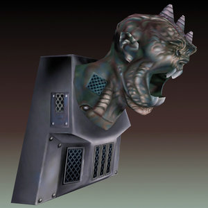 monster statue light 3d model