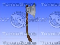 3ds medieval axe
