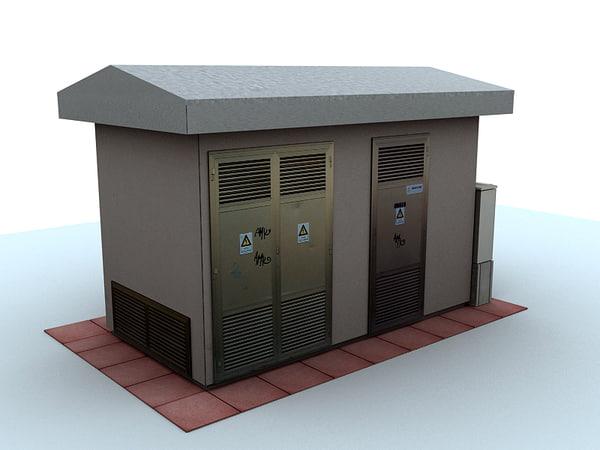 electric substation 3d model
