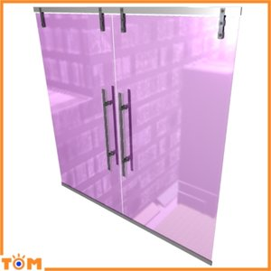 3d model sliding glass doors