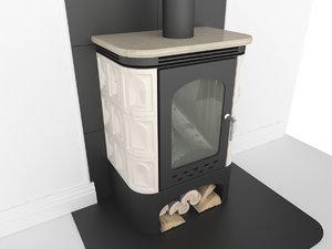 3d fireplace model