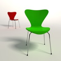 arne jacobsen 3107 chair 3d model