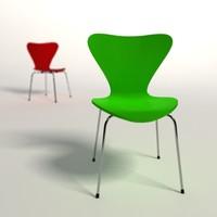 arne jacobsen 3107 chair 3d model
