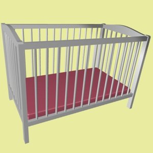 3ds max baby bed