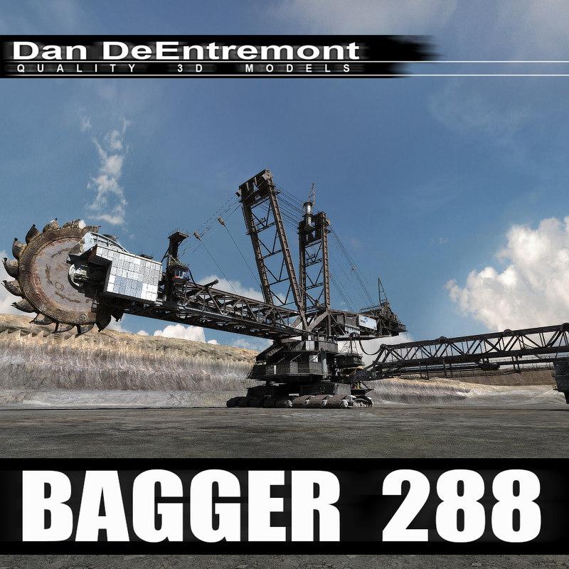 bagger 288 mining excavator 3d max
