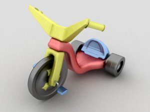 big wheel 3d obj