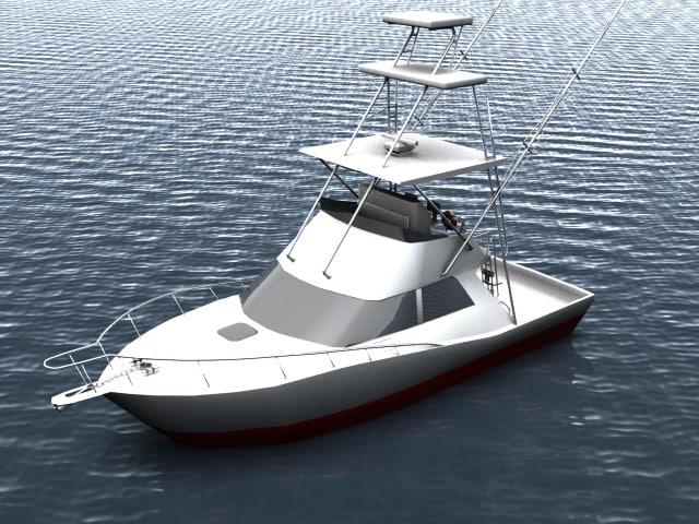 yacht cabo 3d model
